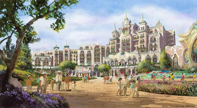 The yet-to-be-named hotel within Fantasy Springs - IMAGE VIA DISNEY