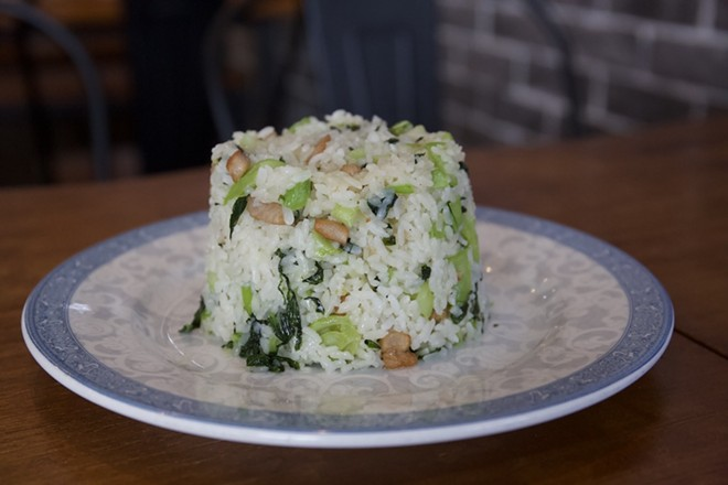 Cai fan (rice with salted pork and greens) - PHOTO BY ROB BARTLETT