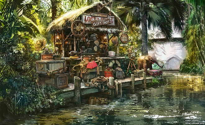A new trading outpost (wink, wink) planned for Disney's updated Jungle Cruise ride. - PHOTO VIA DISNEY PARKS