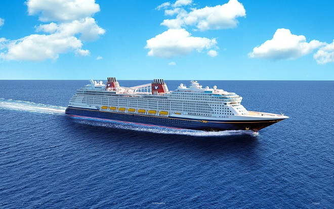 RENDERING OF THE DISNEY WISH CRUISE, COURTESY OF DISNEY