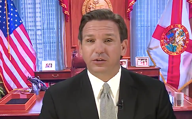 SCREEN CAPTURE COURTESY GOV. RON DESANTIS/TWITTER