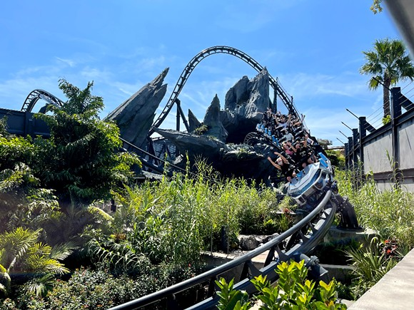 Jurassic World: VelociCoaster is scheduled to open June 10. - SETH KUBERSKY