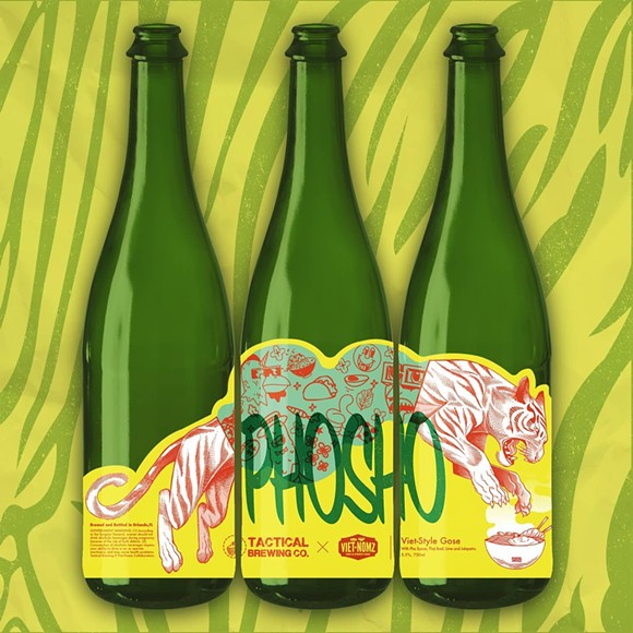 Art concept for Tactical Brewing's latest beer, Phosho - COURTESY OF TACTICAL BREWING CO.