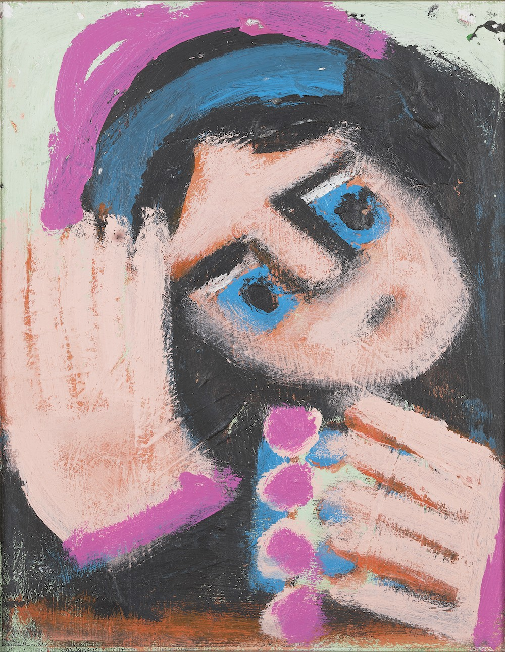 Mr. Eddy Mumma (American, 1908—1986), 'Untitled (The Afghan Girl, National Geographic 1985),' n.d. Acrylic on canvas board. Collection of the Mennello Museum of American Art, Gift of Josh Feldstein, 2015-001-001a,b. © Josh Feldstein