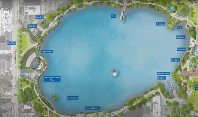 A preliminary design of the proposed Lake Eola Master Plan - IMAGE CITY OF ORLANDO   GAI CONSULTS