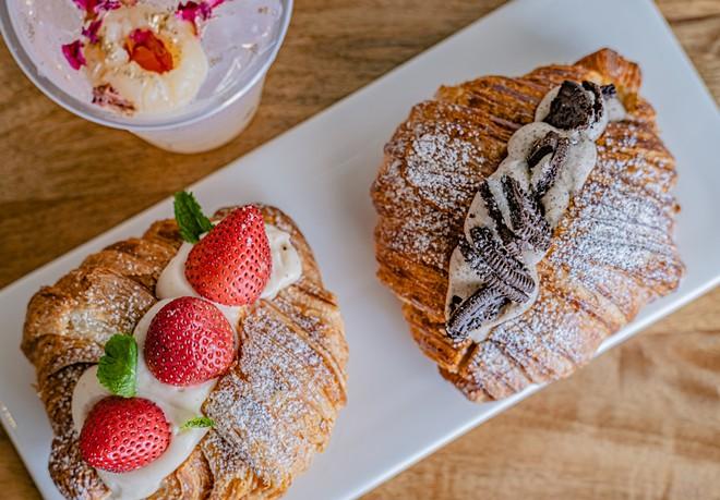 Strawberry cream croissant and Oreo croissant - PHOTO COURTESY OF THE RESTAURANT