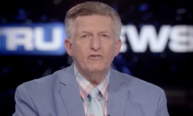 Florida pastor and anti-vaxxer Rick Wiles was hospitalized with complications from coronavirus. - SCREENSHOT VIA TRUNEWS/FACEBOOK