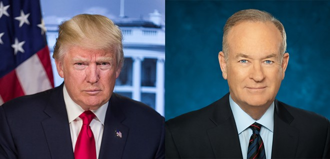 Bill O'Reilly and Donald Trump are taking $100 from Orlandoans who want to hear them talk for an afternoon. - PHOTO VIA AMWAY CENTER/TWITTER