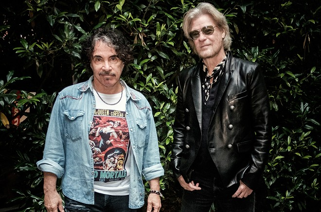 Hall & Oates will play Tampa on September 20. - PHOTO VIA TWITTER/HALL & OATES