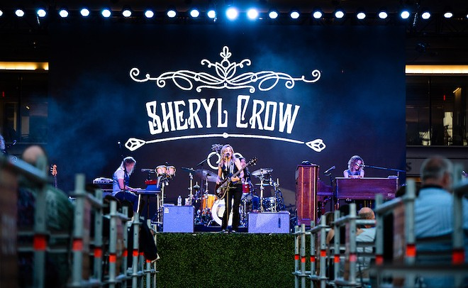 Sheryl Crow holding court at the Frontyard Festival - PHOTO BY MATT LEHMAN FOR ORLANDO WEEKLY