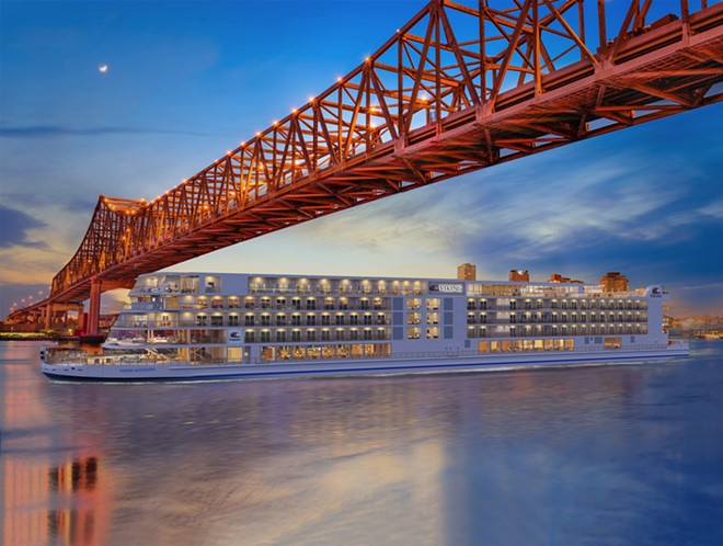 The Viking Mississippi, a US ship scheduled to set sail on the Mississippi River next year. - IMAGE VIA VIKING CRUISES