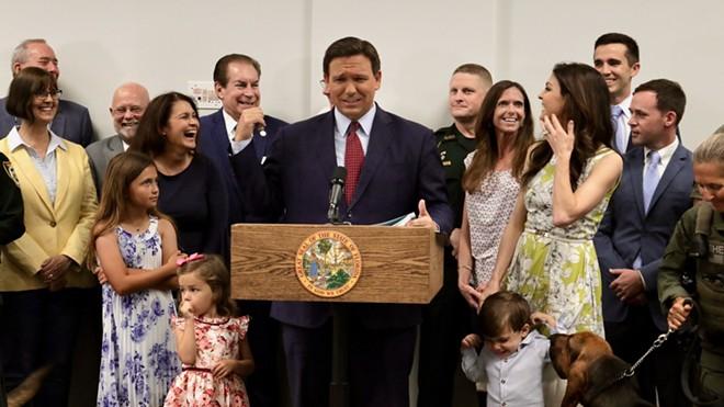 Florida Gov. Ron DeSantis signed bills mandating America-forward civics classes in public school and intellectual freedom on campus. - PHOTO VIA TWITTER/RON DESANTIS