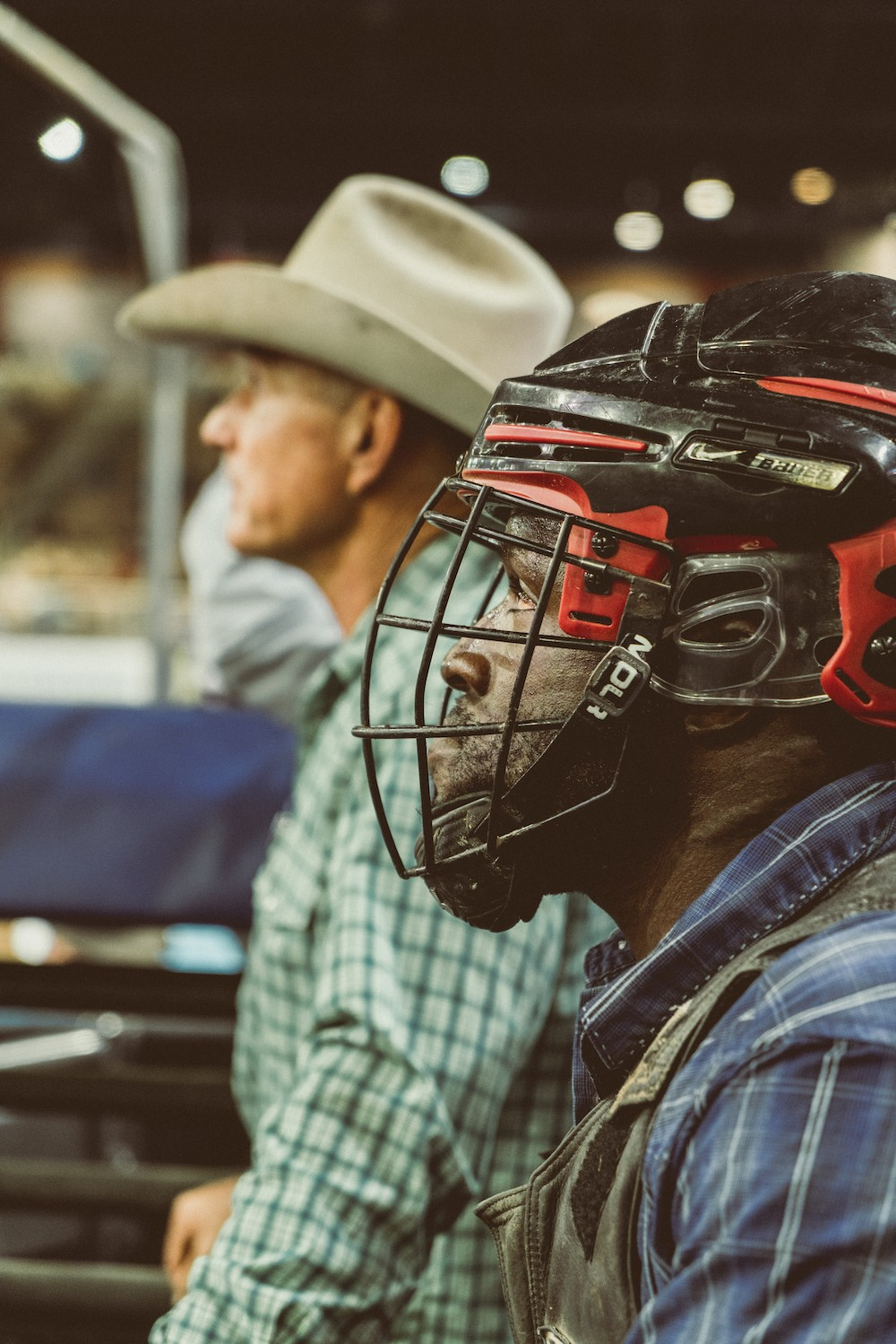 Hometown hero Dee Lewis, the only Black bull rider in the 77th Silver Spurs Rodeo, got a standing ovation. - PHOTO BY CHRISTOPHER BALOGH