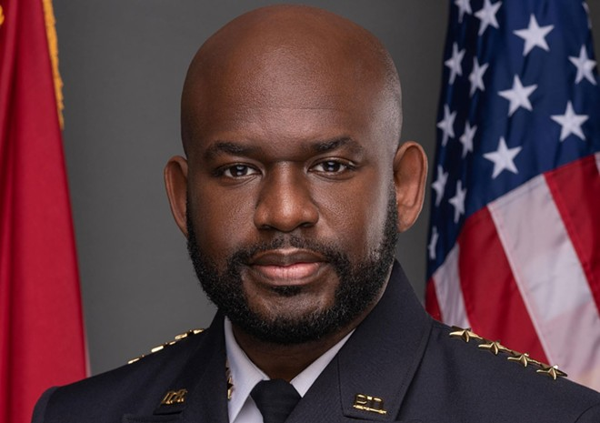 Daytona Beach PD Chief Jakari Young laid into Rep. Mike Waltz on Twitter for sharing the condition of a police officer who was shot in the head. - PHOTO VIA CHIEF JAKARI YOUNG