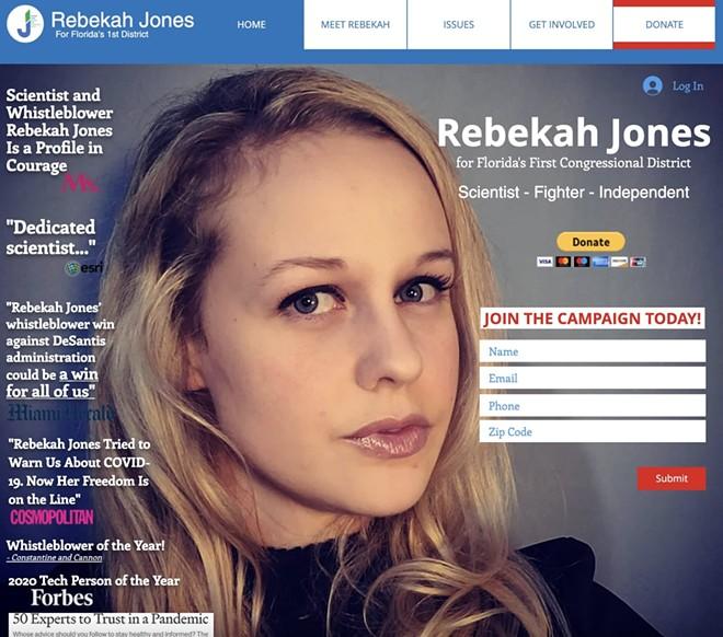 SCREENSHOT OF JONES' WEBSITE