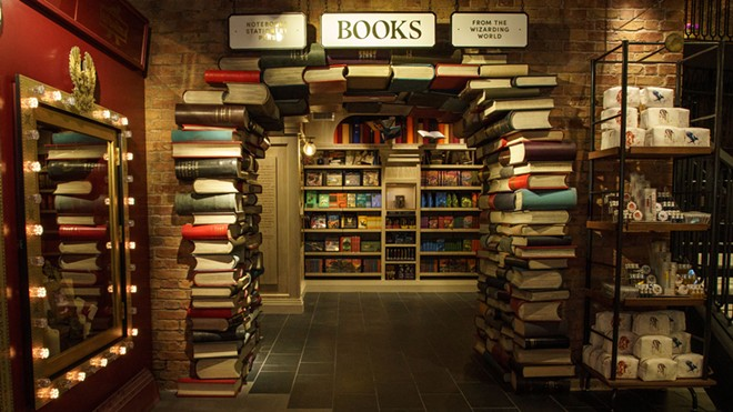 A look at the book store area of the Harry Potter New York store - IMAGE VIA WIZARDING WORLD DIGITAL