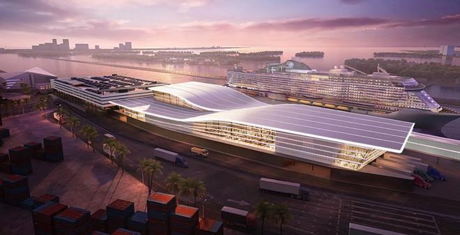 The proposed MSC Cruises Terminal at PortMiami, designed by Arquitectonica. - IMAGE VIA MSC CRUISES USA