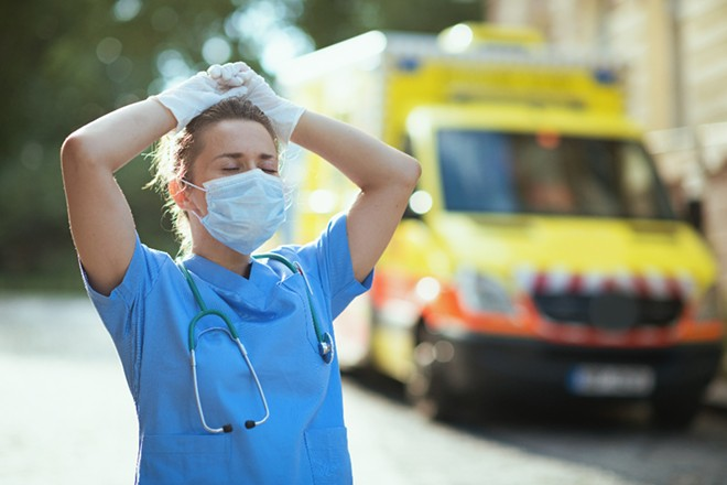 Florida hospitals are feeling the strain of record numbers of COVID-19 cases. - ADOBE