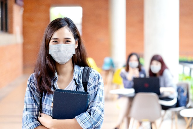 Orange County saw few students opting out of its optional mask policy. - ADOBE