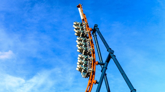 Ice Breaker will send riders up a 93-foot-tall spike that reaches a 100-degree angle. - PHOTO VIA SEAWORLD ORLANDO
