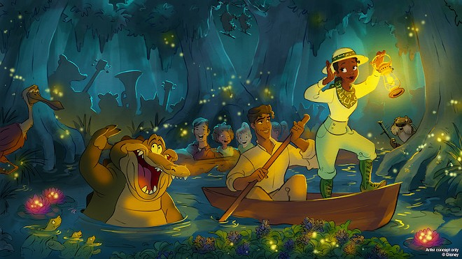 Concept art for the Princess and the Frog redo of Splash Mountain - IMAGE VIA DISNEY