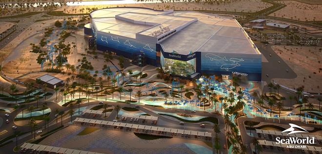 SeaWorld Abu Dhabi Aerial Render - IMAGE VIA PRNEWSFOTO/MIRAL, SEAWORLD PARKS & ENTERTAINMENT