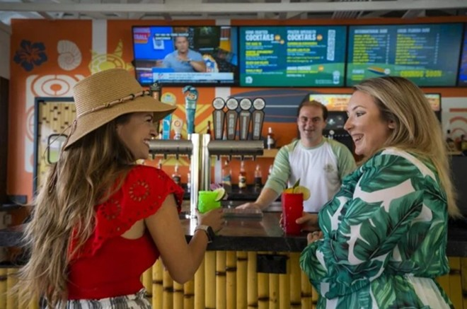 A look at the inside of the Hang Ten Tiki Bar - IMAGE VIA ADVENTURE ISLAND