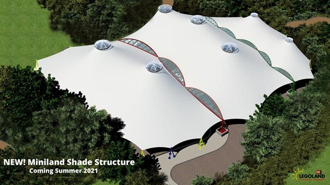Concept art for the Miniland USA shade structure now under construction at Legoland Florida - IMAGE VIA LEGOLAND FLORIDA | TWITTER