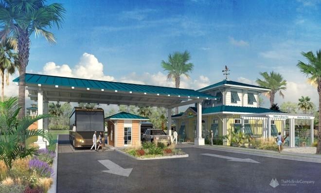 Concept art for a Camp Margaritaville entrance - IMAGE VIA CAMP MARGARITAVILLE