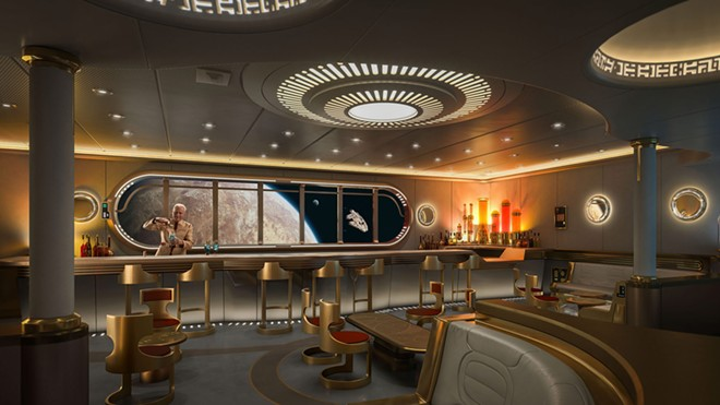 The Star Wars: Hyperspace Lounge coming to the Disney Wish cruise ship - IMAGE VIA DISNEY