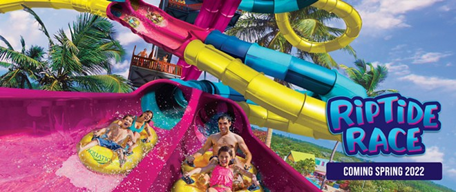 Riptide Race, opening in San Antonio in 2022, is similar to an attraction at Aquatica Orlando that opened in 2021 - IMAGE VIA SEAWORLD SAN ANTONIO