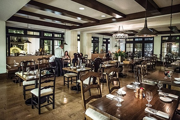 The dining room at Hamilton's Kitchen at the Alfond Inn - ROB BARTLETT