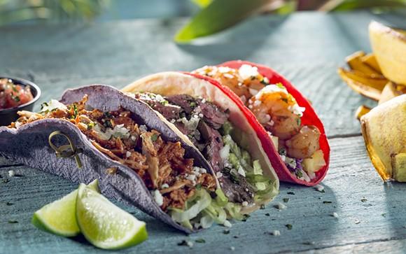 Taco sampler. - PHOTO VIA UNIVERSAL ORLANDO
