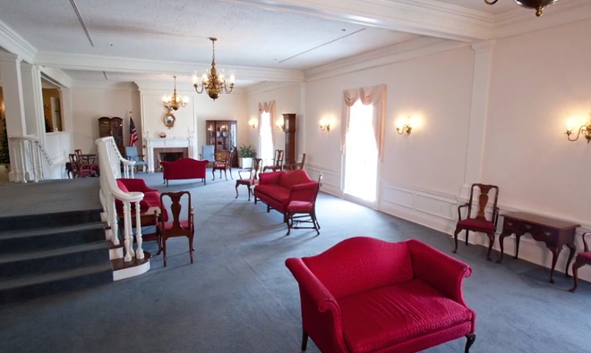 The American Adventure Parlor; a private event space inside Epcot - IMAGE VIA DISNEY EVENT GROUP