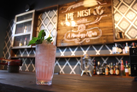 The bar at the Nest in Baldwin Park - PHOTO BY SARAH WILSON