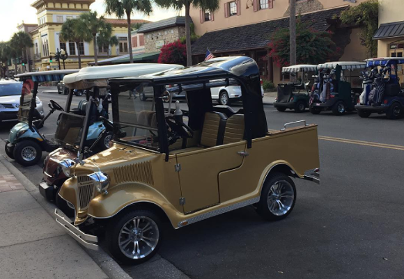 Just one of the many high-end chariots found at The Villages - PHOTO VIA OCKLAWAHA/INSTAGRAM