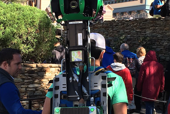 Google Street View backpacks spotted in the Magic Kingdom - PHOTO VIA WDWSHUTTERBUG/TWITTER