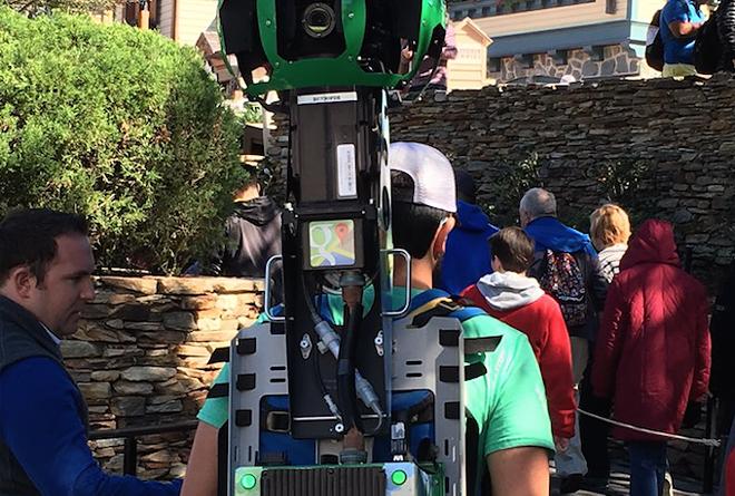Google Street View backpacks spotted in the Magic Kingdom - PHOTO VIA WDWSHUTTERBUG/TWITTER