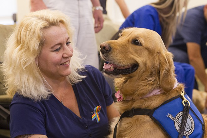 Ruthie the Comfort Dog lends solace in Orlando - PHOTO BY @RUTHIECOMFORTDOG