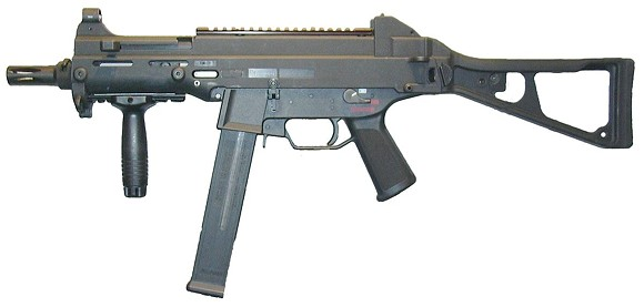 A UMP .45-caliber submachine gun - PHOTO VIA OPD