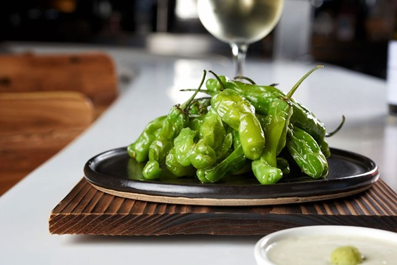In the last 24 hours, we've seen these little pepper poppers pep up at least four local happy hour menus. - MORIMOTO ASIA