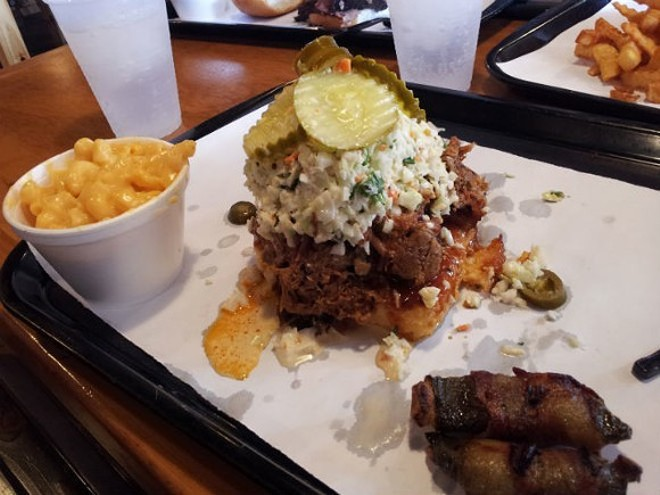 SIx Shooter with smoked jalapenos and mac-and-cheese should be Orlando's signature dish, IMO. - ORLANDO WEEKLY