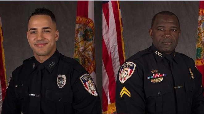 """Officer Matthew Baxter, left, and Sgt. Richard """"Sam"""" Howard, right. - PHOTO VIA KISSIMMEE POLICE DEPARTMENT"""