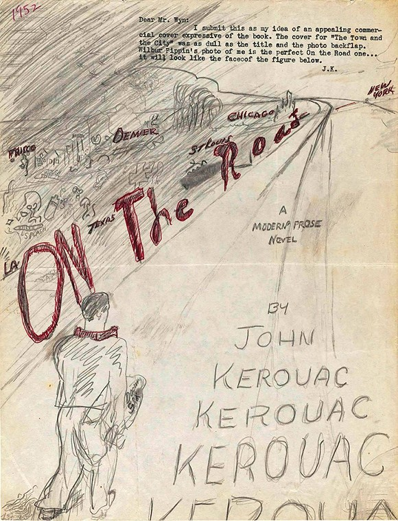 Original cover sketch for On the Road - JACK KEROUAC