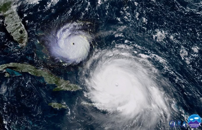 On the left is Andrew, and on the right is Irma - IMAGE VIA ERIC HOTHAUS