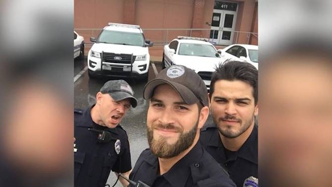 Gainesville Police Officers John Nordman, Michael Hamill and Dan Rengering - PHOTO VIA GAINESVILLE POLICE DEPARTMENT/FACEBOOK
