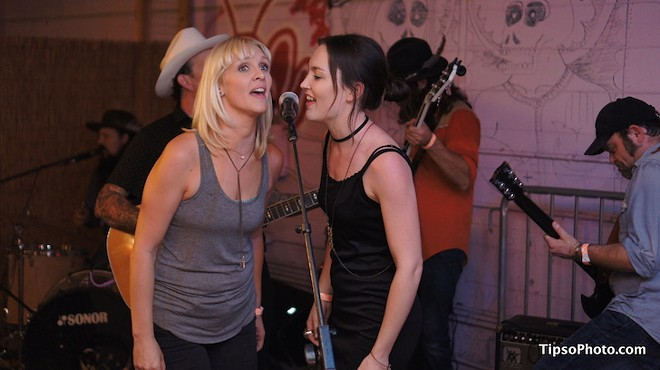 Hannah Harber and Heather Lee Wynn at Dirty Laundry pavilion - MICHAEL LOTHROP