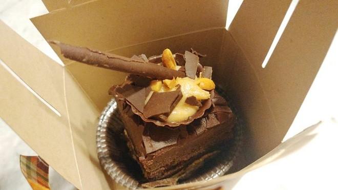 Layered chocolate chunk cookie, Oreo truffle, dark chocolate brownie, peanut butter mousse (Hulbert) - FAIYAZ KARA