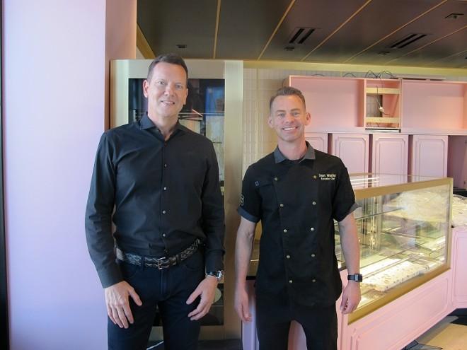 L-R: Founder Steve Brown; Executive chef Stuart Whitfield - PHOTO BY FAIYAZ KARA