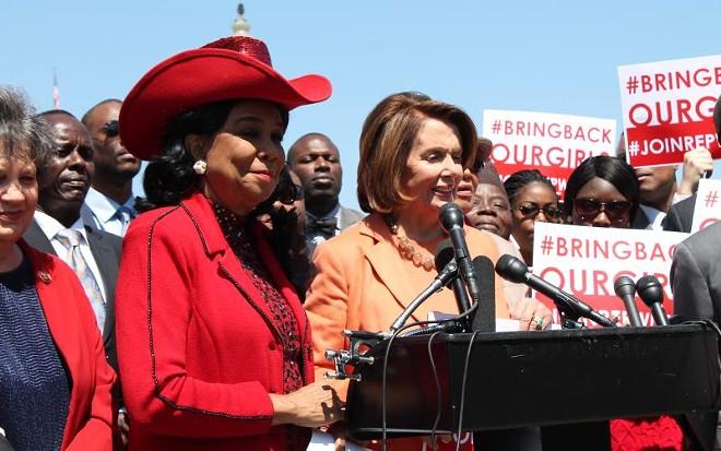 Rep. Frederica Wilson with Nancy Pelosi - PHOTO VIA WILSON.HOUSE.GOV